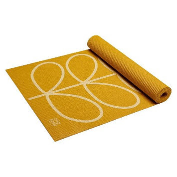 Orla Kiely by Gaiam Linear Stem Sunflower Yoga Mat- Yellow (3mm)