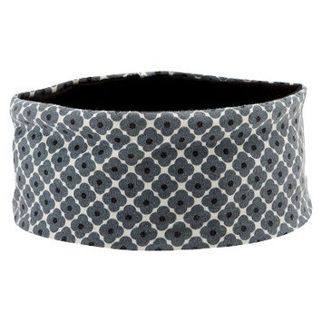 Orla Kiely by Gaiam Flower Spot Graphite Yoga Headband- Grey