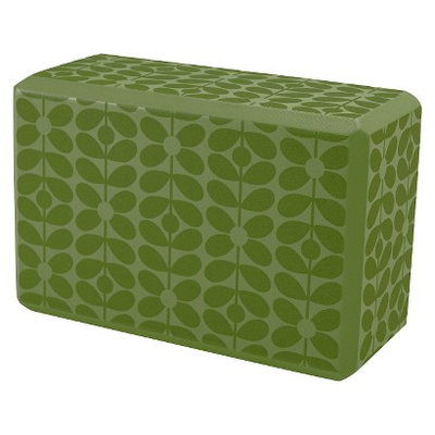 Orla Kiely by Gaiam Linear Stem Apple Yoga Block- Green