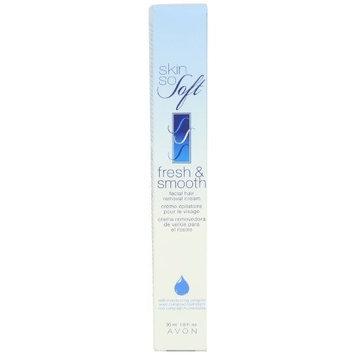 Avon Skin so Soft Fresh & Smooth Moisturizing Facial Hair Removal Cream