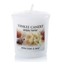 Yankee Candle simply home White Linen & Lace Votive Candle