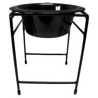 Platinum Pets Single Diner Stand with 12 oz Rimmed Bowl - Black