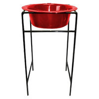 Platinum Pets Single Diner Stand with 96 oz Rimmed Bowl - Red