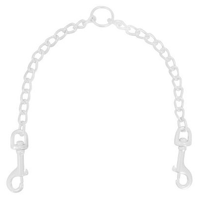 Platinum Pets 20 inch x 2.5mm Coated Chain Coupler - White