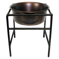 Platinum Pets Single Diner Stand with 1 Quart Heavy Bowl - Copper Vein