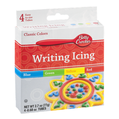 Betty Crocker Writing Icing Classic Colors - 4 CT