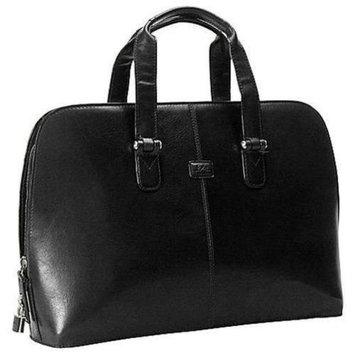 Tony Perotti Classic Zip Around Leather Laptop Bag (Cognac)