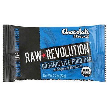 Raw Revolution Organic Live Coconut & Chocolate Food Bars