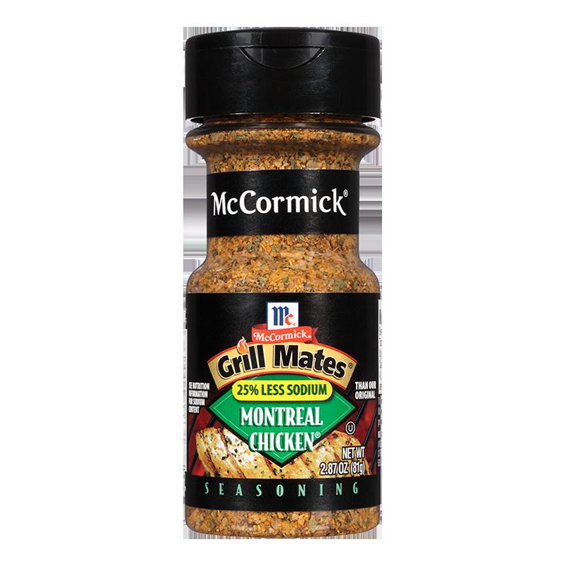 McCormick® Grill Mates® 25% Less Sodium Montreal Chicken Seasoning