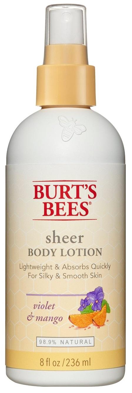 Burt's Bees Sheer Violet & Mango Body Lotion