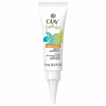 Olay Fresh Effects Clear Skin Spot Zinger 2-in-1 Salicylic Acid Acne Spot Treatment, Citrus/Mint, .5 fl oz