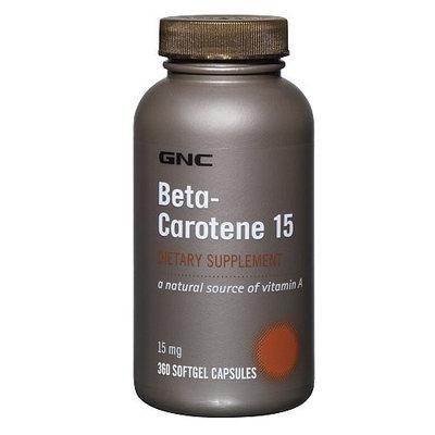 GNC Beta-carotene 15 Dietary Supplement 15 Mg 360 Softgel Capsules