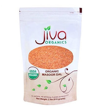 Jiva USDA Organic Masoor Dal (Split Red Lentils) 2 Poundï ½ï ½ï ½