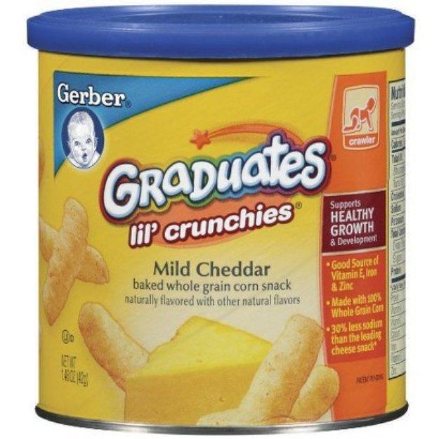 Gerber Graduates Lil' Crunchies Cheddar - 1.48 oz. (6 Pack)