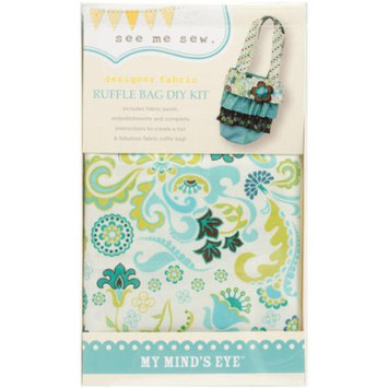 My Minds Eye MME Ruffle Bag Kit-Blue