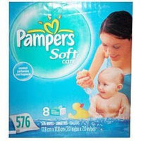 Procter Gamble 1003181 pampers soft care wipes baby fresh 576