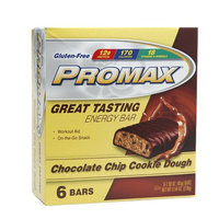 Promax Nutrition 12g Protein Bars, Chocolate Chip Cookie Dough, 6 ea
