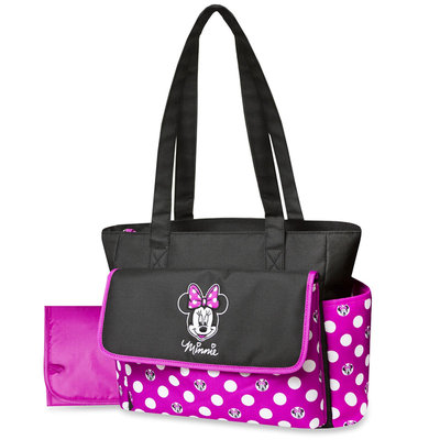 Disney Minnie Mouse Diaper Bag & Changing Pad Polka Dots - Rose Art