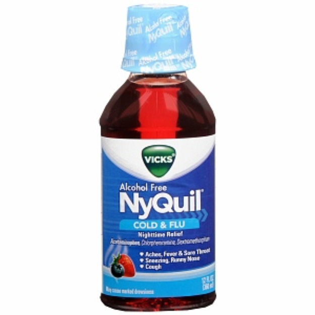 Vicks Nyquil Alcohol Free Cold & Flu Nighttime Relief Liquid