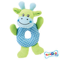 Toys R Us Farm Animal Ring Squeaker Dog Toy