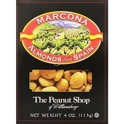 The Peanut Shop of Williamsburg Marcona Almonds From Spain, 4 Ounce (Pack of 12)