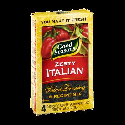 Good Seasons Zesty Italian Salad Dressing & Recipe Mix - 4 PK