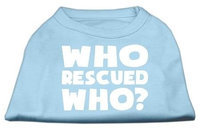 Ahi Who Rescued Who Screen Print Shirt Baby Blue Sm (10)