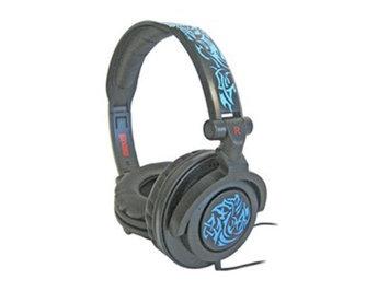 Maxell AMPlified Tribal Glow Heavy Bass Headphone - Blue - 190265