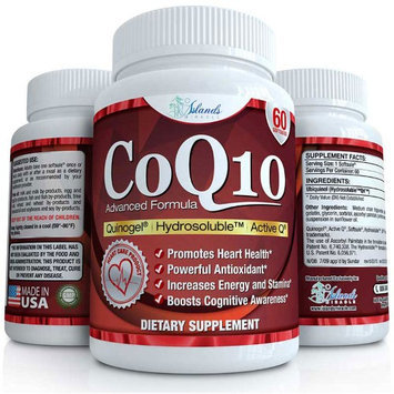Islands Miracle CoQ10 Ubiquinol (High Absorption) the FIRST HYDROSOLUBLE (Water Soluble) Coen.