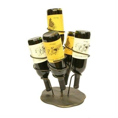 Creative Creations 5 Bottle Iron Wine Holder