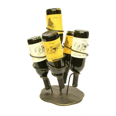 Creative Creations 5 Bottle Iron Wine Holder