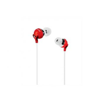 Jwin Electronics Corporation jWIN PEP25RED PEBBLE Stereo In Ear Headphones (Red) - JWIN ELECTRONICS CORP.