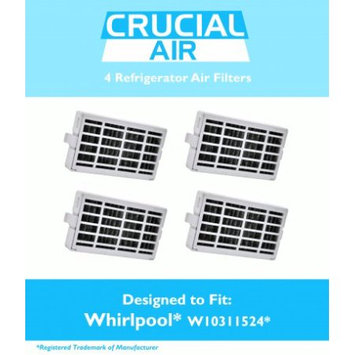 Crucial Air 4 Whirlpool Air1 Refrigerator Air Filters, Part # W10311524, 2319308 & W10335147