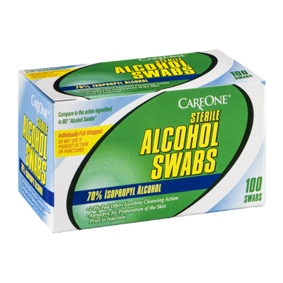 CareOne Sterile Alcohol Swabs - 100 CT