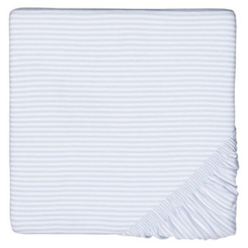 Burt's Bees Baby Organic Stripe Knit Crib sheet - Sky Blue