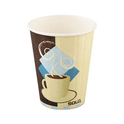 SOLO Cup Company SLOIC12J7534 Tuscan Cafe Insulated Paper Hot Cups, 12 oz, White, 600 Per Carton