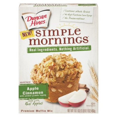Duncan Hines Simple Mornings Apple Cinnamon Muffin Mix 16.1 oz
