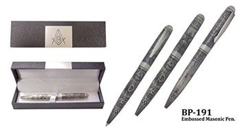 Sigma Impex BP-191 Embossed Masonic Pen With Gift Box All Metal