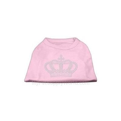 Mirage Pet Products 5223 SMLPK Rhinestone Crown Shirts Light Pink S 10
