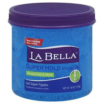 La Bella Super Hold Styling Gel, 38-Ounces