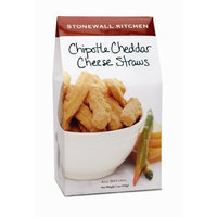 Stonewall Kitchen Chipotle Cheddar Cheese Straws, 5-Ounce Boxes (Pack of 4)