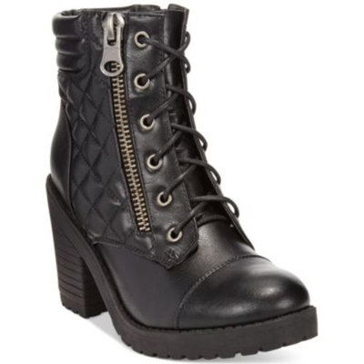 ankle booties Rampage Harrison Lace-Up Lug Booties