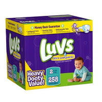 Luvs Premium Stretch Diapers with Ultra Leakguards Diapers, Size 2, 258 Count