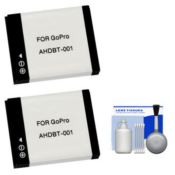 Power Essentials Bundle for GoPro HD HERO & HD HERO 2 with 2 AHDBT-001 Batteries + Cleaning Kit