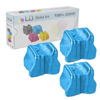 LD Xerox Phaser 8560 Compatible Cyan (3 pack) 108R00723 Solid Ink ColorStix Cartridge for the Phaser 8560, 8560DN, 8560DT, 8560DX, 8560MFP & 8560N