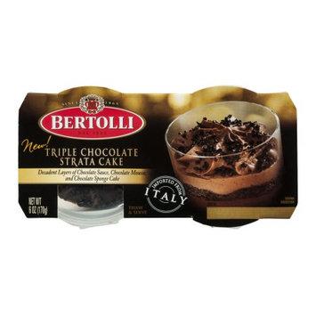Bertolli® Triple Chocolate Strata Cake - 2 CT