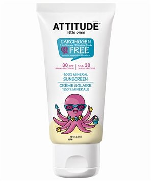 ATTITUDE Baby Sunscreen 100% Mineral - SPF 30