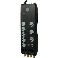 GE Surge Protector 8 Outlet with 4ft Cord, 2100 Joules - Black (14095)
