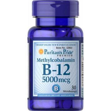 Puritan's Pride Methylcobalamin Vitamin B-12 5000 mcg-30 Microlozenges