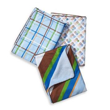 Caden Lane 1DIAPB Boutique Boy Diagonal Stripe Piped Blanket